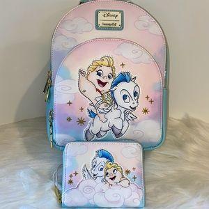 Baby Hercules & Pegasus Backpack & Wallet Set NWT